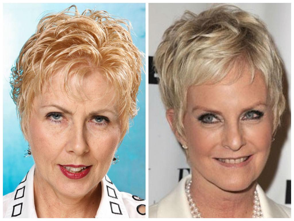 Короткие стрижки для женщин 50 лет с круглым лицом